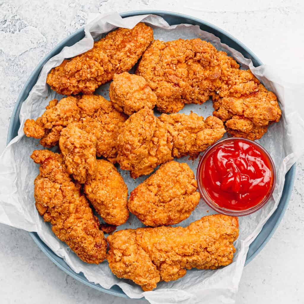 Air Fryer Frozen Chicken Strips.