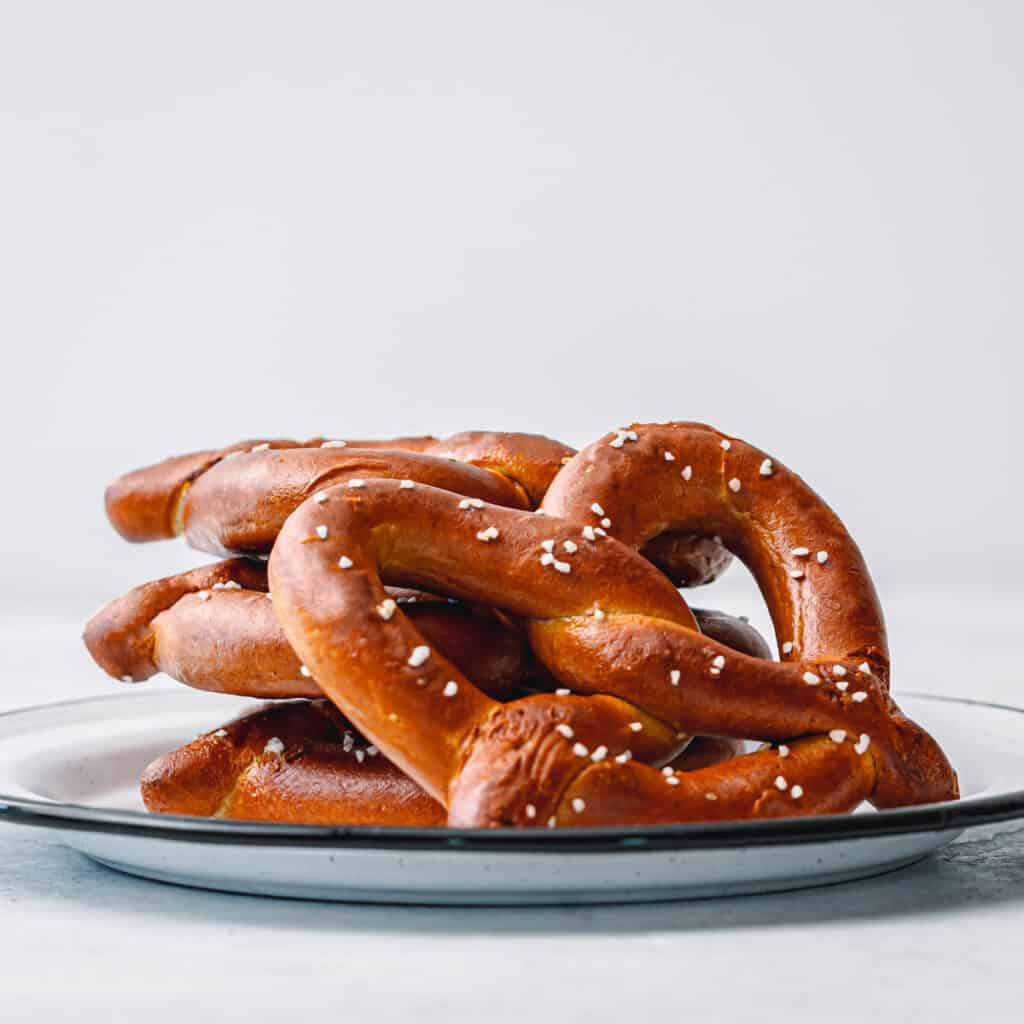 frozen pretzels in an air fryer.